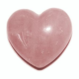 Rose Quartz polished heart