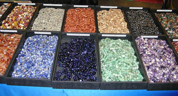 Flats of beads