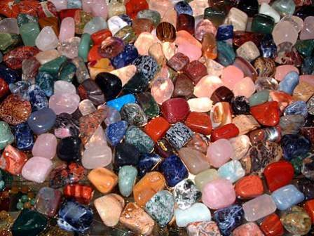 An assortment of Tumbled Stones